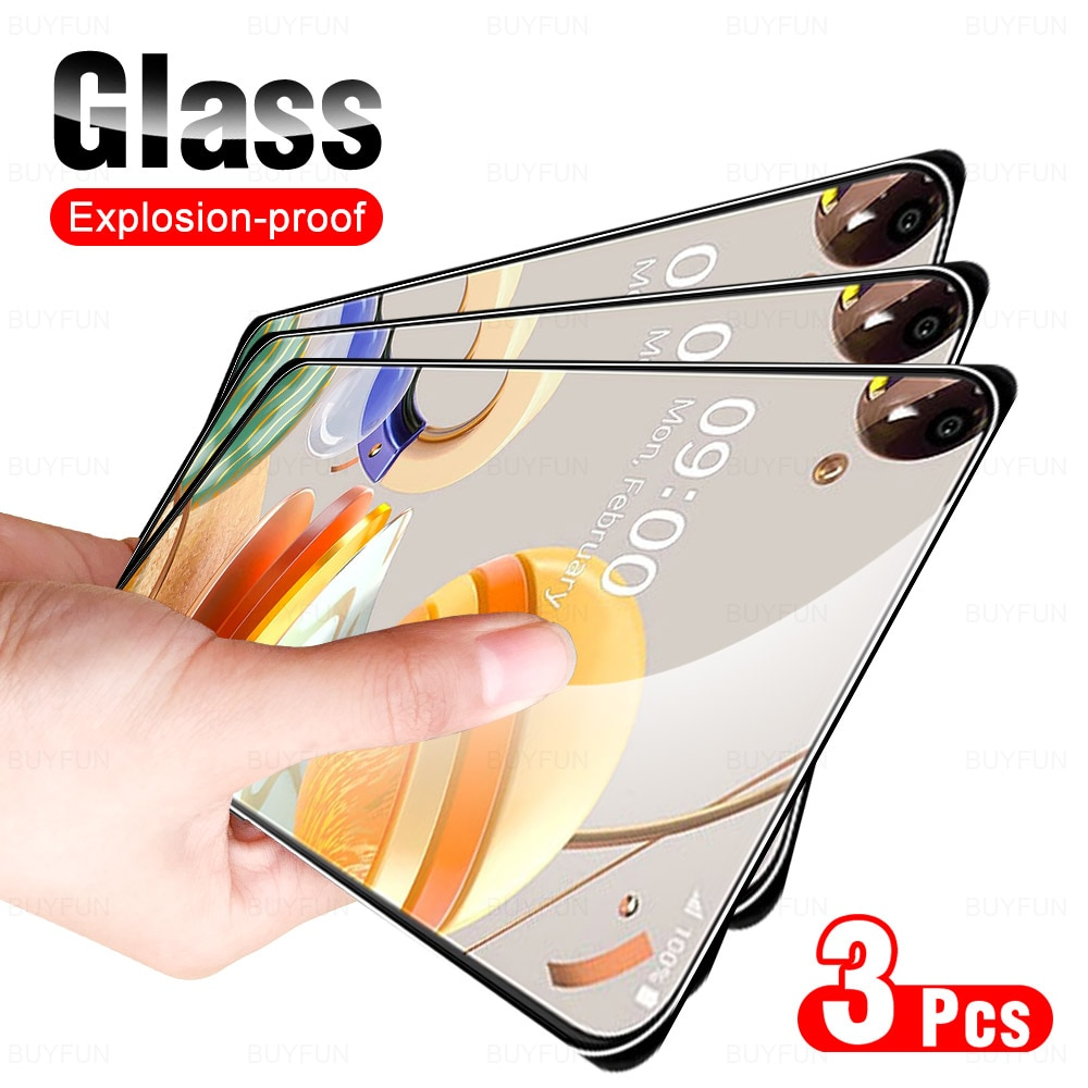 Glass For LG K61 3pcs scratch resistant screen protector for LG K61 K 61 lm-q630eaw HD full cover tempered protective glass