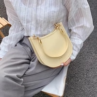 ute solid color small pu leather shoulder bags for women summer simple handbags and purses female travel totes