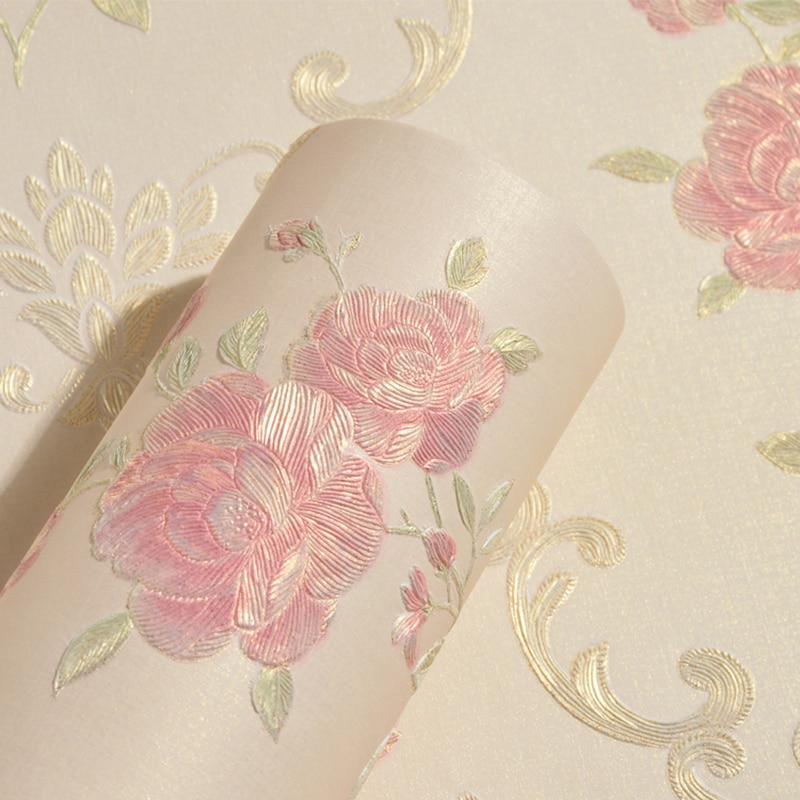 3d estereoscópico flor pastoral não-tecido engrossado papel de parede cobrindo rolo papéis de parede decoração da sua casa sala de estar quarto