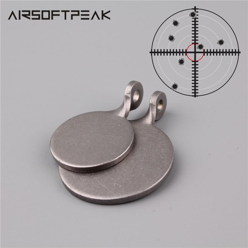 5 unids/lote objetivo de tiro 3 cm/4 cm de diámetro de acero inoxidable tiro redondo objetivo para pistola y accesorios de caza tirachinas de Paintball