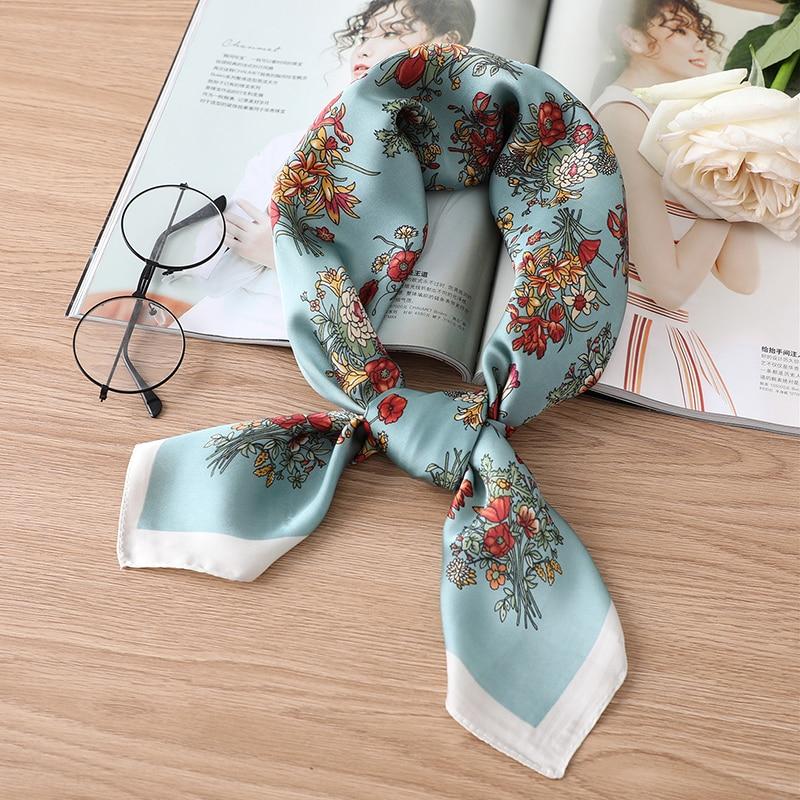 Женский шелковый шарф с роскошным принтом лошади, брендовые шарфы с квадратным вырезом, женский платок с повязкой на голову, большой платок, мода 2020