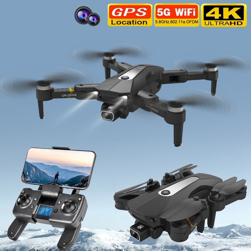 New K80 Pro Drone Profesional 4k HD Wide Angle Camera 5G WiFi GPS Fpv Drone Dual Camera Height Keep Drones Helicopter Toys 1200M