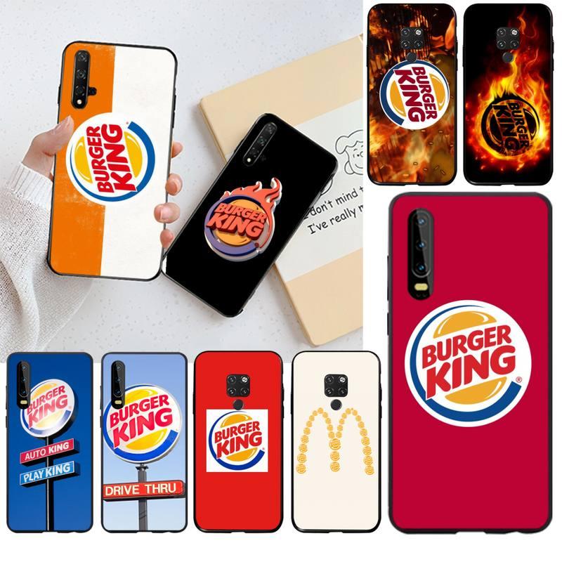 CUTEWANAN, funda de teléfono con logotipo de hamburguesa king burgerking para Huawei P40 P30 P20 lite Pro Mate 20 Pro P Smart 2019 prime
