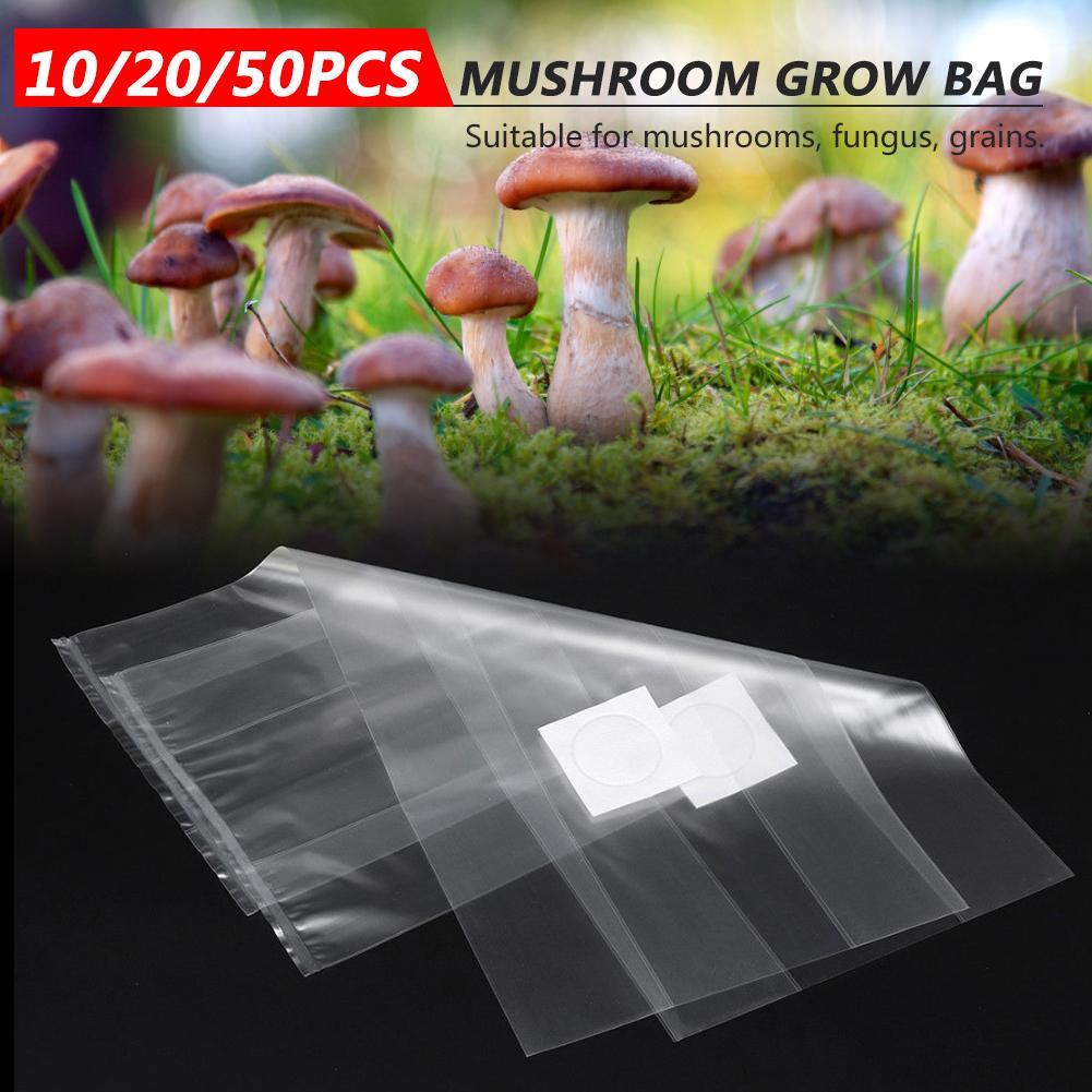 Bolsa para cultivo de setas, a prueba de presión, 10/20/50 Uds., bolsa para plantación hortícola de PVC, bolsa transpirable resistente a altas temperaturas