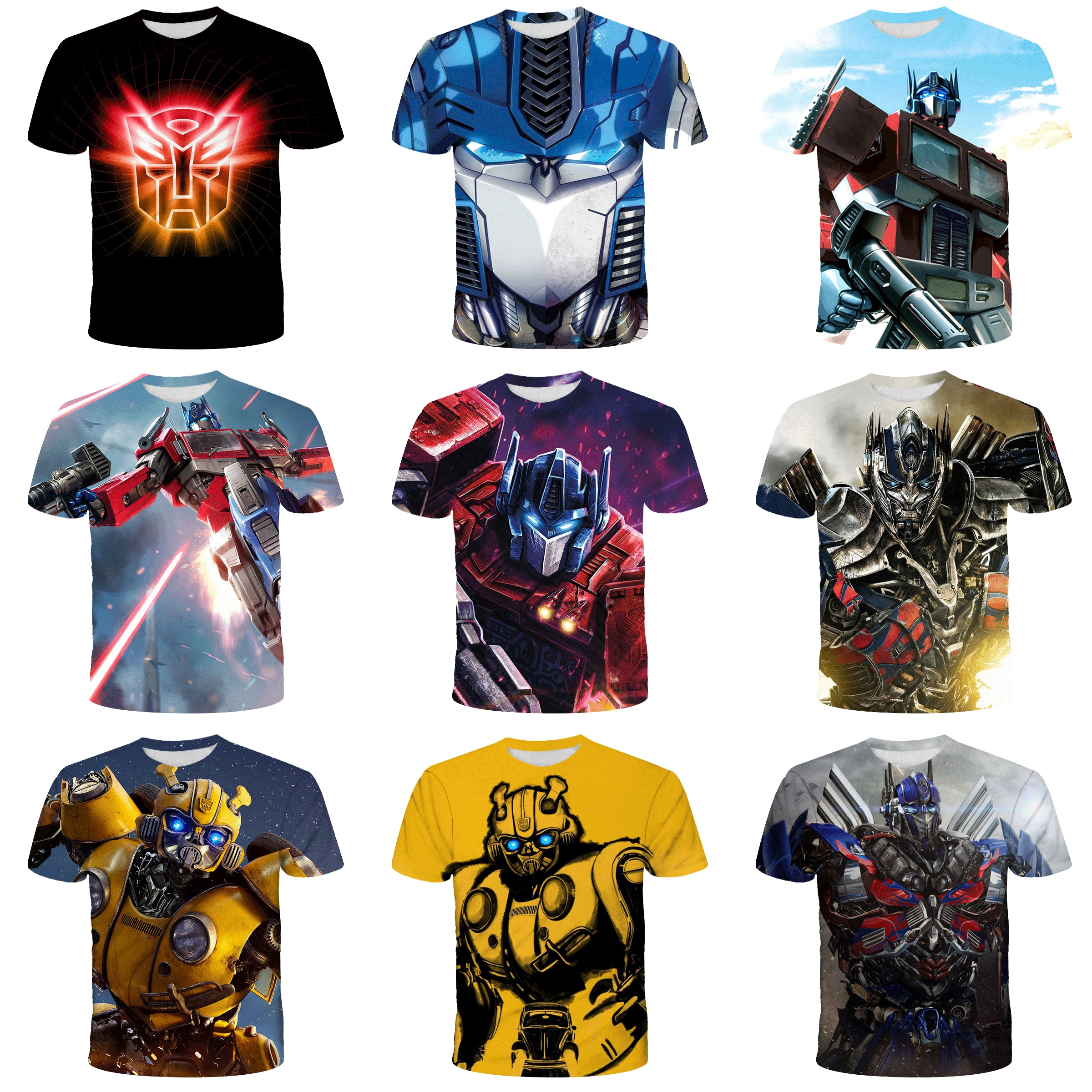 AliExpress - Hornet Clothes Summer Kids Clothes boy clothes Optimus Prime T-shirt 3D printed girls clothes Baby Children's clothing Kids Gift