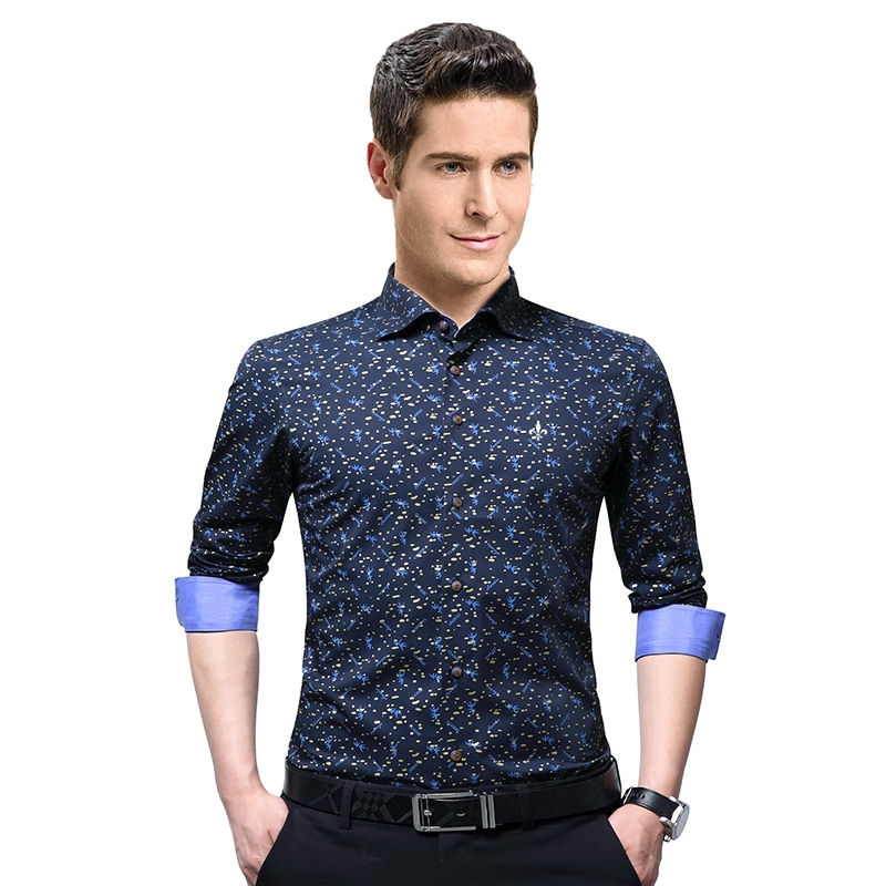 Dudalinas 2021 طباعة عالية الجودة ماركة الذكور قميص طويل الأكمام قميص 100% القطن سليم صالح قميص M-5XL قميص غير رسمي الرجال الملابس