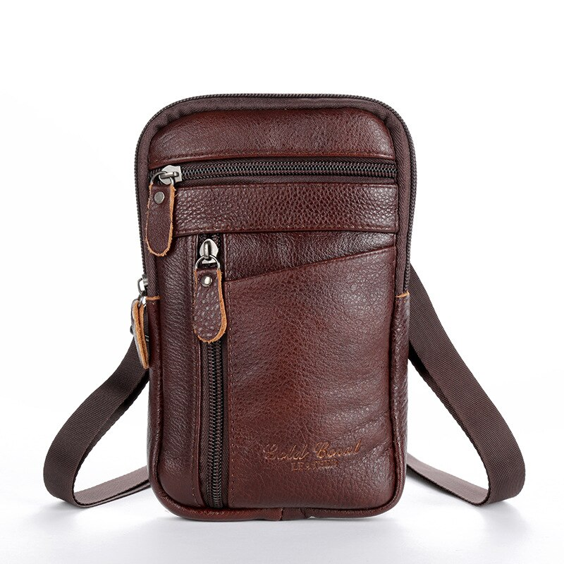 Men's Waist Packs Crossbody Mobile Phone Bags PU Leather Sports Travel Pouch Wallet Portable Coin Purse Case Long Belt Bum Bag luxury brand waist packs women crocodile pattern pu leather fit 5 5 inches phone funny bags ladies travel money wallet belt bag