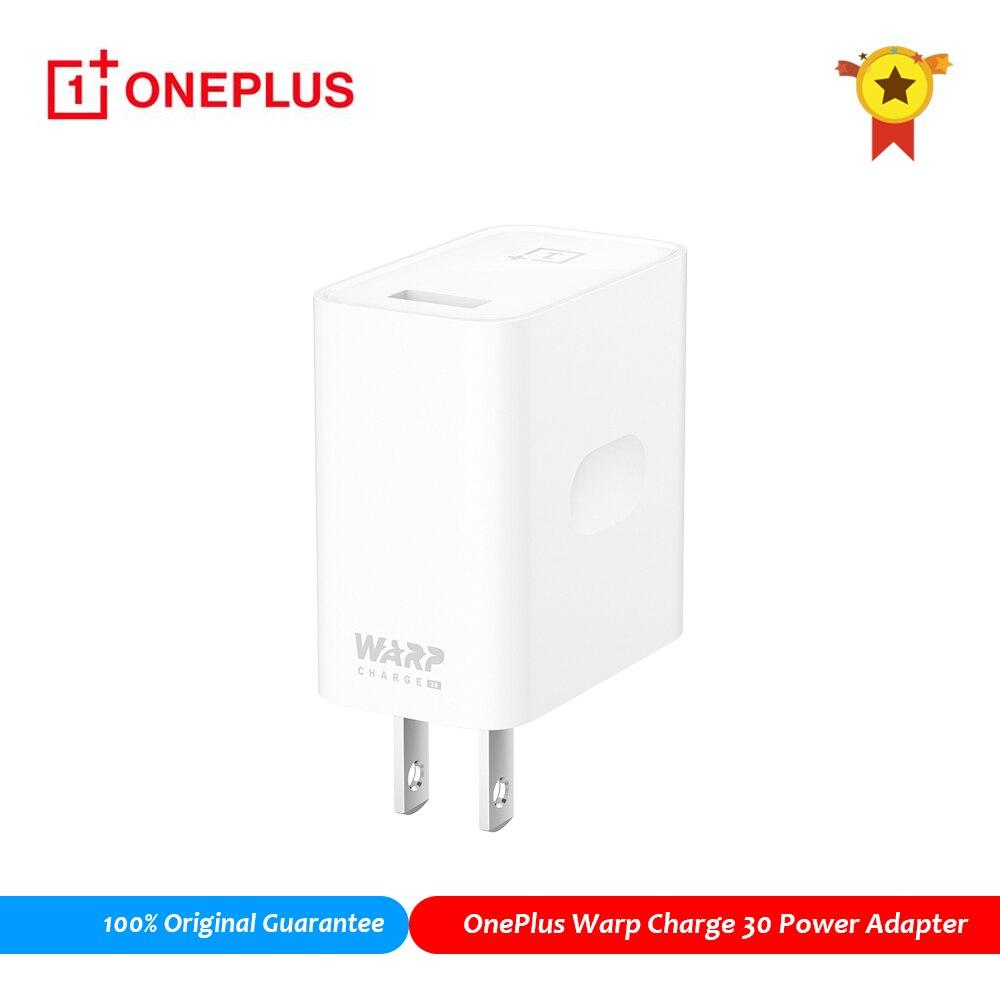 Original OnePlus Warp cargo de 30 adaptador de corriente   30w cargador USB rápido para OnePlus 7 Pro 7T 7T 3 Pro 3T 5T 5T 6T