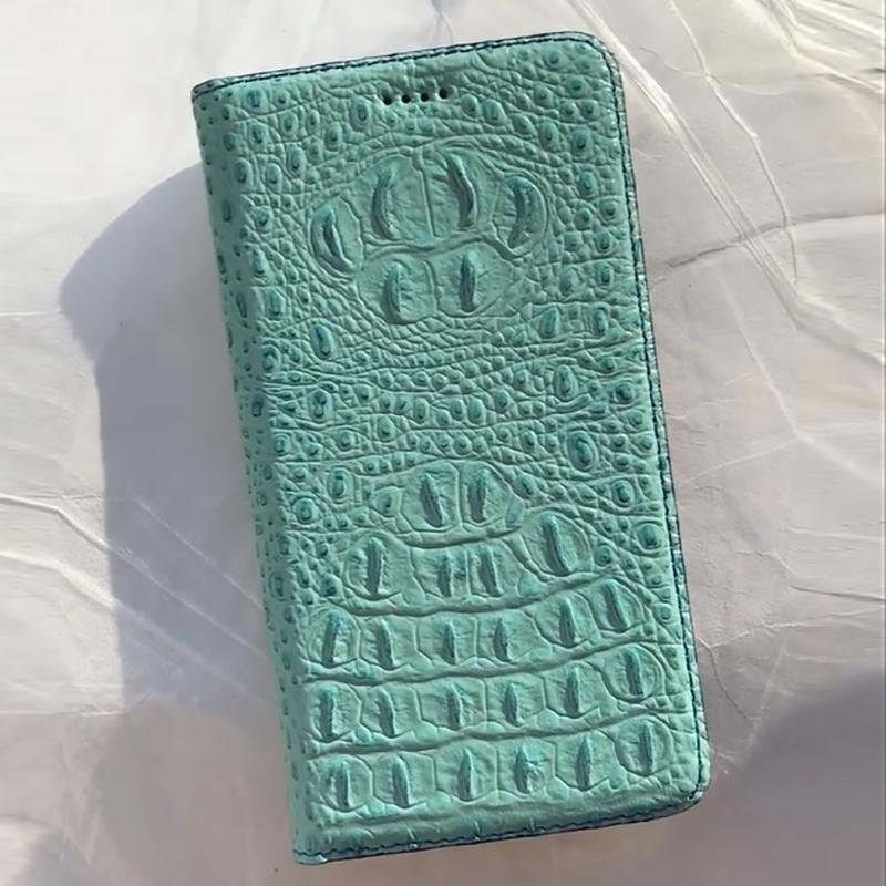 Crocodile Back Veins Genuine Leather Case Cover For XiaoMi Redmi 6 6A 7 7A 8 8A 9 9T 9A 9C 10X Pro Power Prime Flip Cover