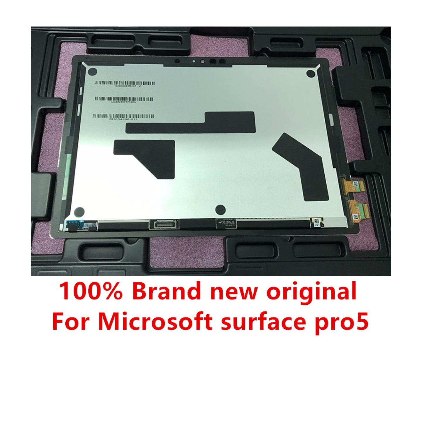 Original for Microsoft Surface Pro5 Pro6 1796 type LP123WQ1 LCD touch screen glass sensor digitizer tablet stand