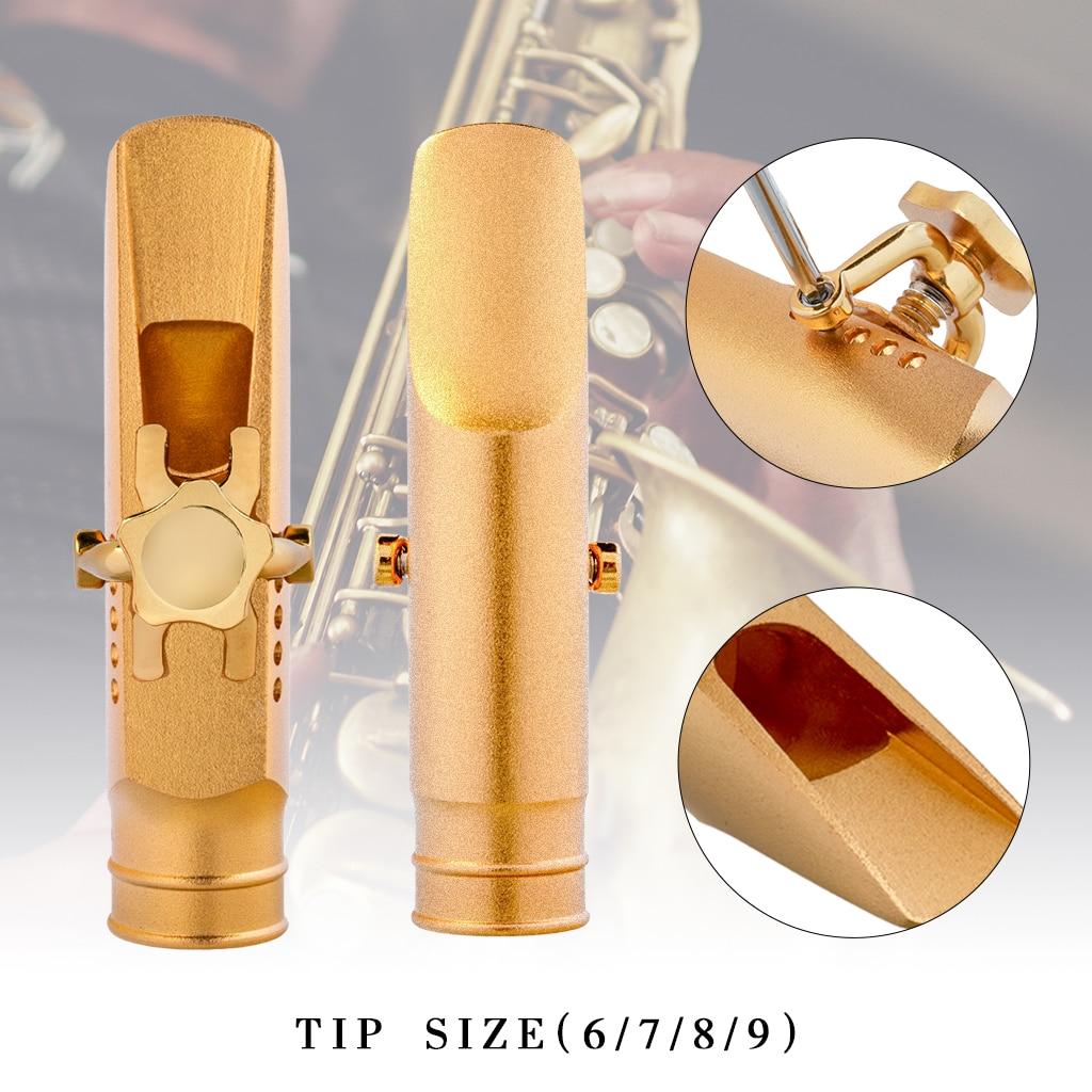 Alto Saxophone Metal Mouthpiece Eb Sax 6.7.8.9 MTP Step Baffle Large Chamber Mouthpiece Ligature Cap For Blues Jazz Music enlarge