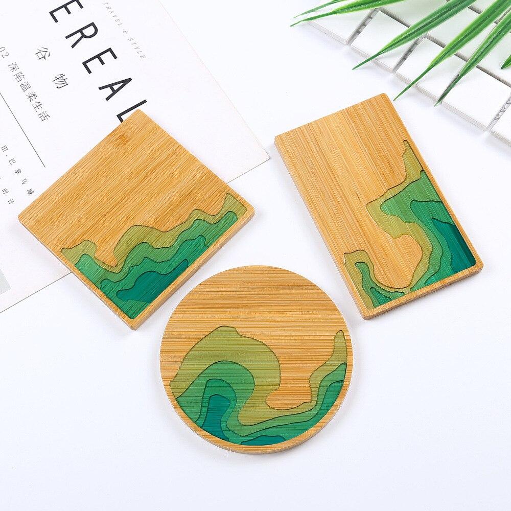 Molde de plato de madera playa isla naturaleza mar Costa placa molde resina epoxi artesanía flor bandeja resina epoxi artesanía DIY resina suministros