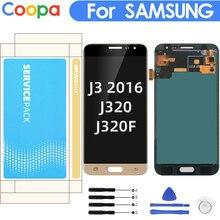 """5.0 """"Samsung Galaxy J3 2016 J320 J320F J320H lcd ekran dokunmatik ekranlı sayısallaştırıcı grup yedek parlaklık kontrolü ile"""
