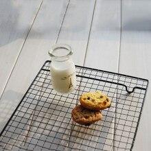 Antiaderente metal bolo rack de refrigeração grade net bandeja de cozimento biscoitos pão secagem suporte cooler ferramentas de cozimento
