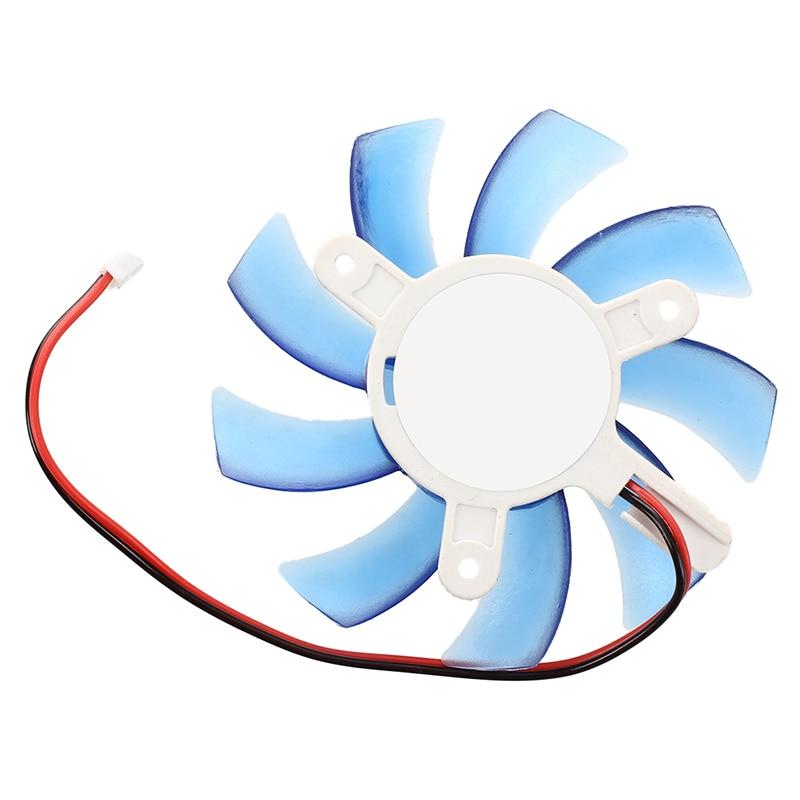 75mm 12VDC azul plástico VGA tarjeta de vídeo refrigeración ventilador enfriador para ordenador