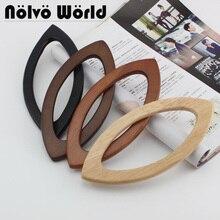 5 paires = 10 pièces, 4 couleurs acceptent le mélange, poignée en bois de forme de lèvre de 20X9.5cm pour le sac de tricot, poignées simplement de stylo de sac de crochet en bois darbre doka