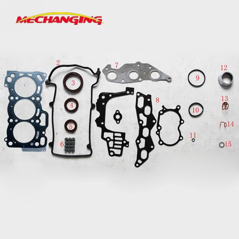 Para DAIHATSU MOVE EJ EJ-DE, piezas de motor de metal de EJ-VE, conjunto completo de juntas de motores, juego de juntas de culata 04111-97206-000 50232700