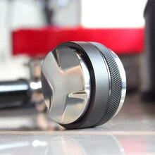 Double tête 53mm café distributeur et invioleur café niveleur convient pour 54mm Breville Portafilter professionnel expresso main Tampers