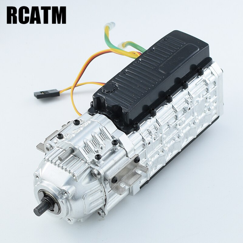 Metal Two Speed Transmission Gearbox 27T 540 Brush Motor for 1/14 Tamiya RC Truck Tipper SCANIA 620 VOLVO FH16 Actros 3363 MAN