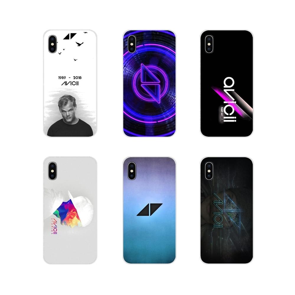 For Apple iPhone X XR XS 11Pro MAX 4S 5S 5C SE 6S 7 8 Plus ipod touch 5 6 Avicii DJ Logo Tim Bergling TPU Transparent Case Cover