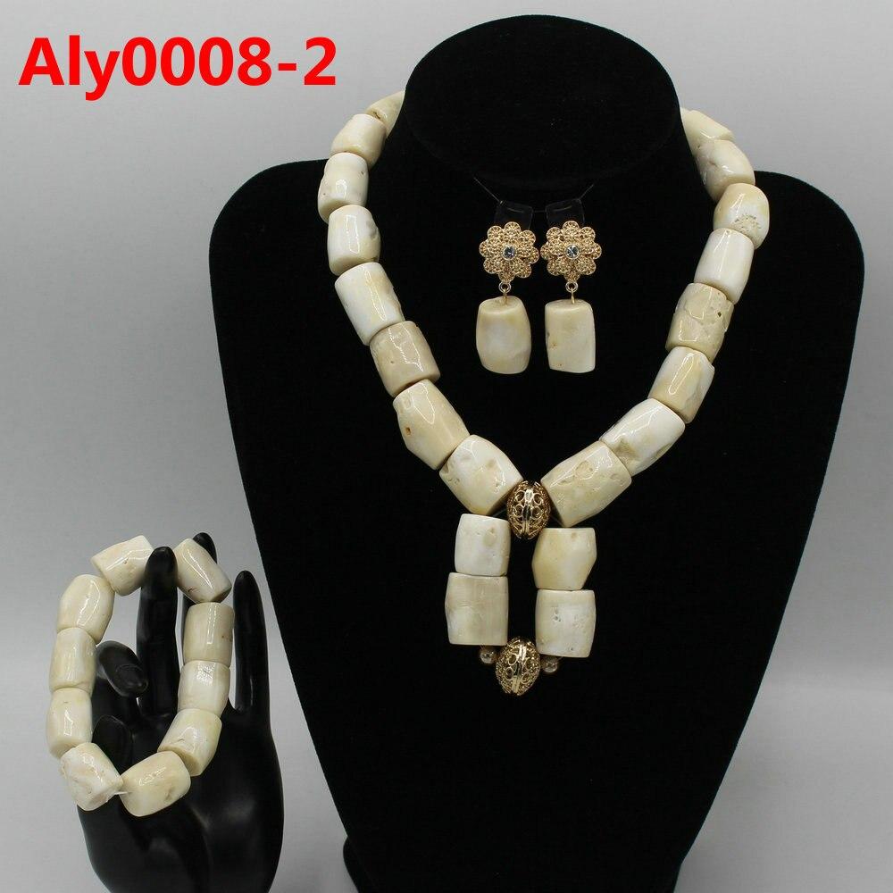 Hermoso collar de declaración de Coral nupcial indio conjunto de collar de perlas de Coral nigeriano de boda conjunto de joyas para mujer ali0008