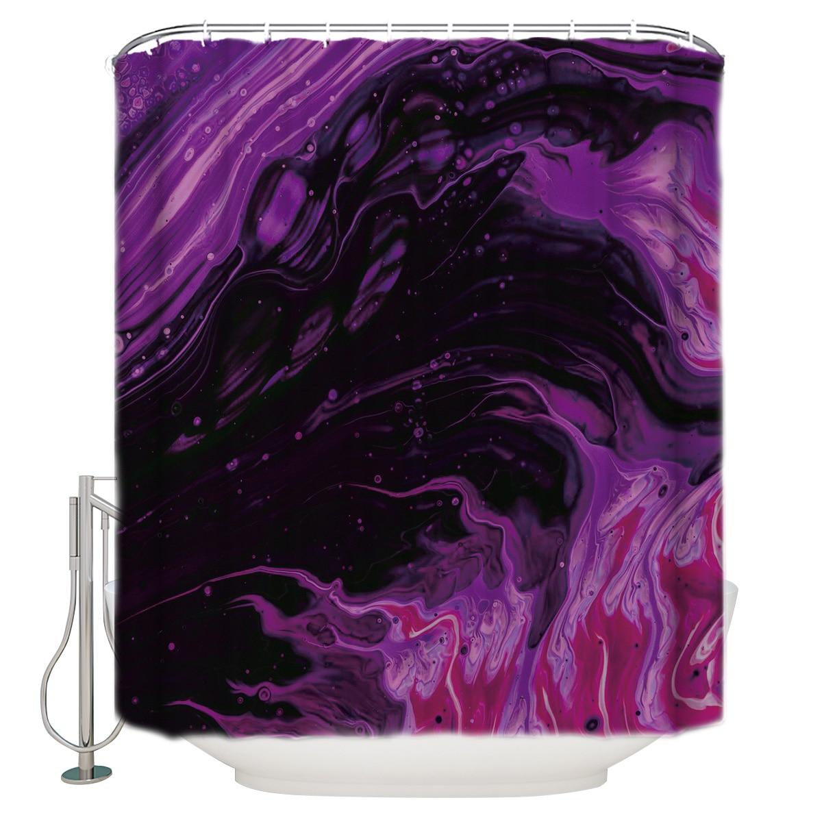 Абстрактная жидкая градиентная душевая занавеска водонепроницаемая и водонепроницаемая полиэфирная ткань для ванной занавески