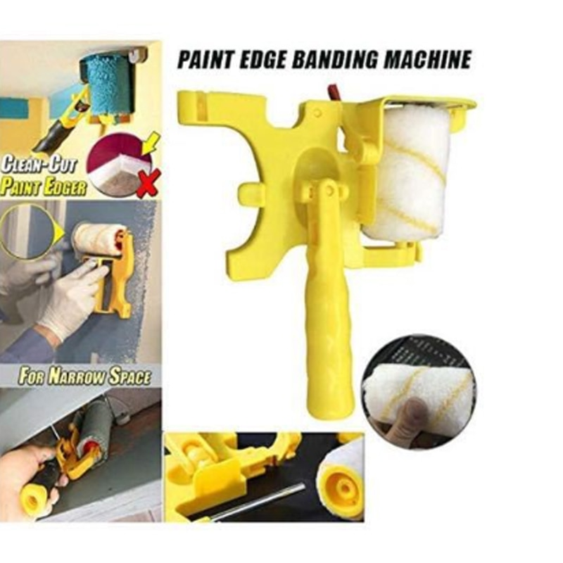 Trimming Roller Brush for Wall Multifunctional Roller Paint Brush Clean-Cut Paint Edger Wall Painting Tool Paint Roller Brush