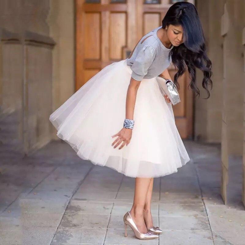 Tutu mariage mariée demoiselle dhonneur jupon Lolita Saia 2019 fête Train gonflé 5 couche 60CM mode femmes Tulle jupe
