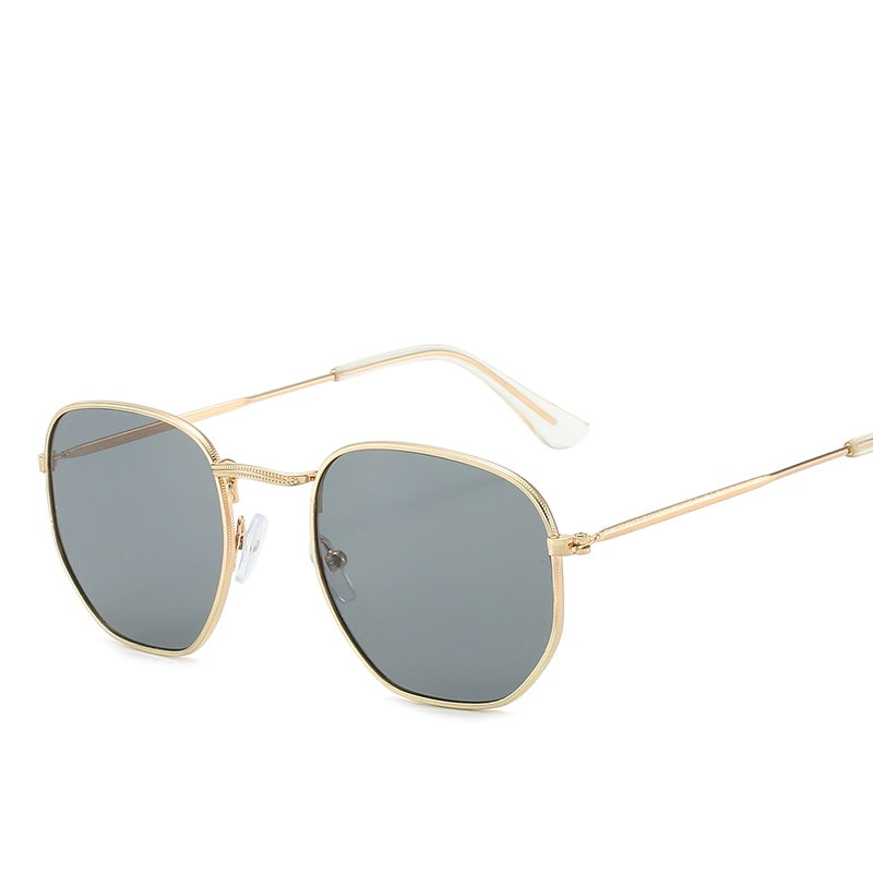 Fashion Oval Coating Square Sunglasses Women New Stylish Oversize Metal Outdoor Men Sun Glasses for