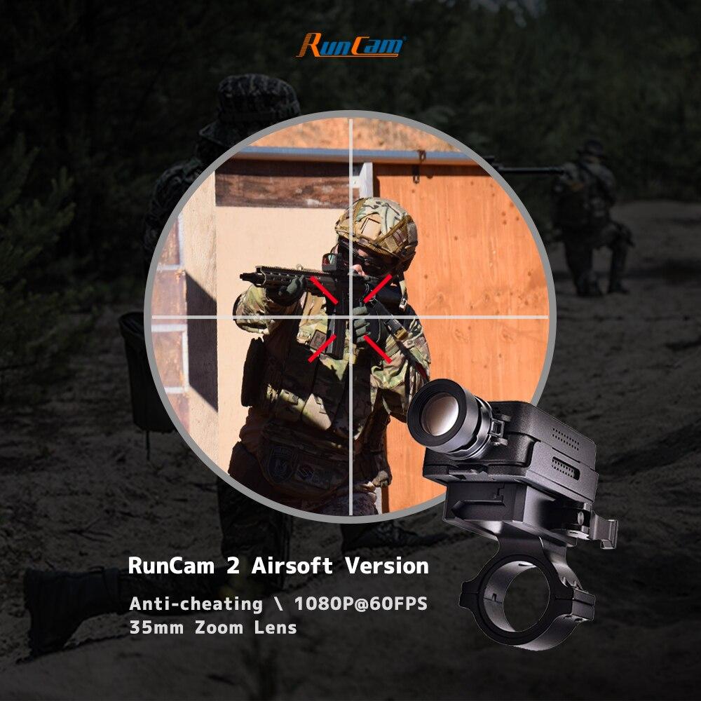 RunCam 2 التكتيكية الادسنس العسكرية نطاق المسدس كاميرا 40 مللي متر عدسة 1080P المدمج في واي فاي التطبيق 850mAh الصيد كرات الطلاء في الهواء الطلق CS لعبة