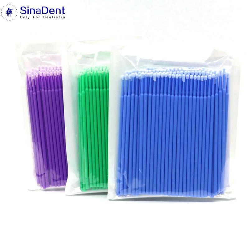 300Pcs/Pack Dental Disposable Cotton Swab Microbrushes Dental Applicator Sticks for Dentistry