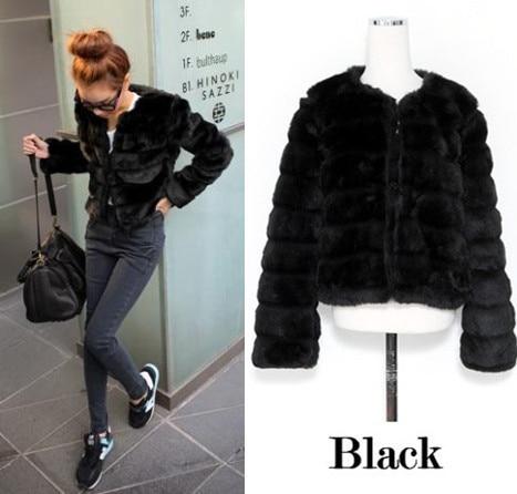 2020 casaco de pele falso Elegante Dame Faux Pelz Jacke Lange-sleeve Winter Mantel Mädchen Gefälschte Rex Kaninchen pelz Oberbekleidung L667