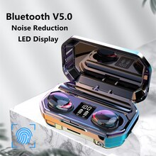 MEUYAG TWS Wireless Bluetooth 5.0 Earphone Touch Control 9D Stereo Waterproof Noise Reduction Headse