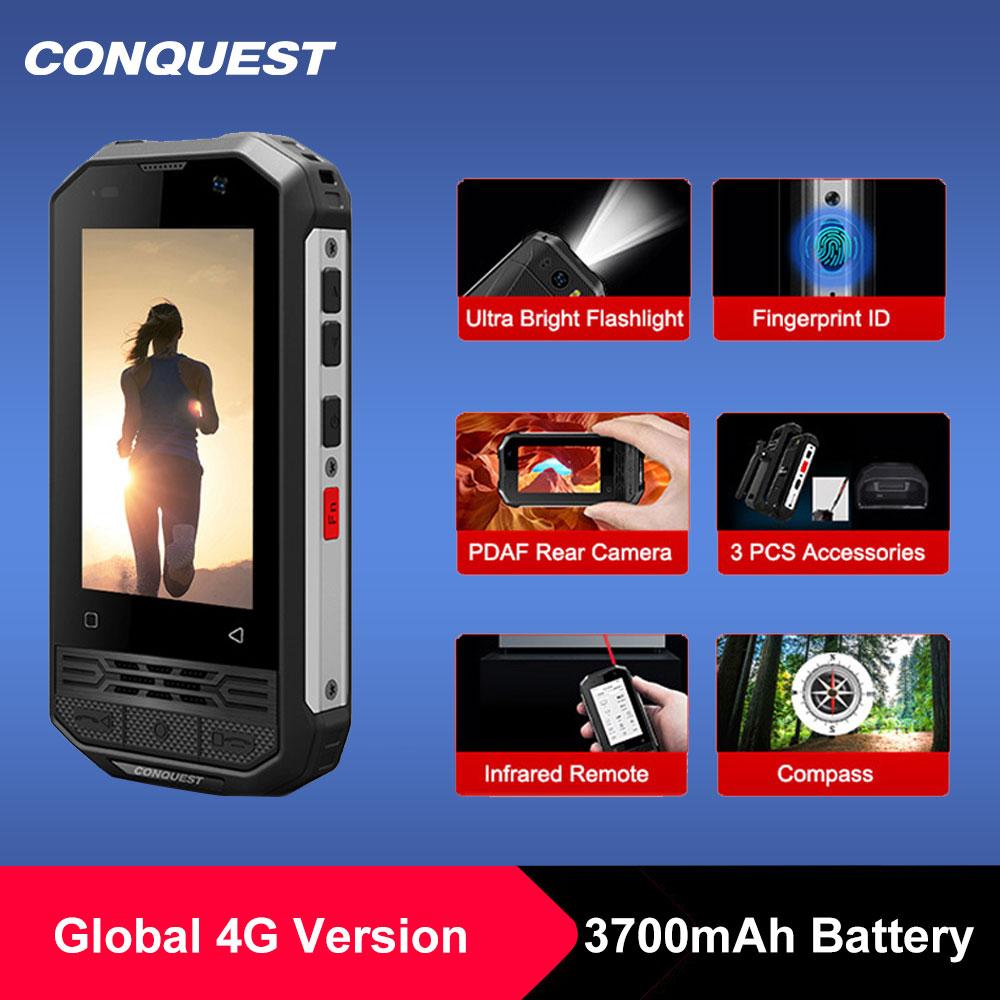 Перейти на Алиэкспресс и купить CONQUEST F2 мини IP68 Водонепроницаемый NFC прочный мобильный телефон чехол для мобильного телефона отпечатков пальцев Android дешевые сотовый телефо...