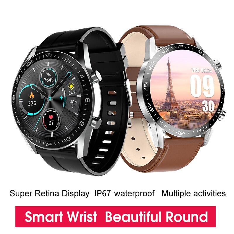 KESHUYOU I12 2021 Smart watch Men Round Full Touch Screen Sport Fitness Watch IP67 Waterproof IP67