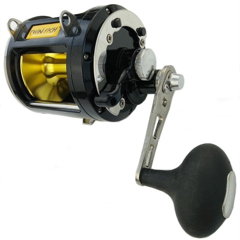 12000 series Max power 25kg casting reel 8 bearings deep sea fishing trolling reel metal coil right hand black fishing wheel