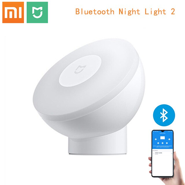 Xiaomi Mijia Induction Night Light Bluetooth Version 3 in 1 Adjustable Brightness With Mijia App 360°Rotating For Smart Home Use