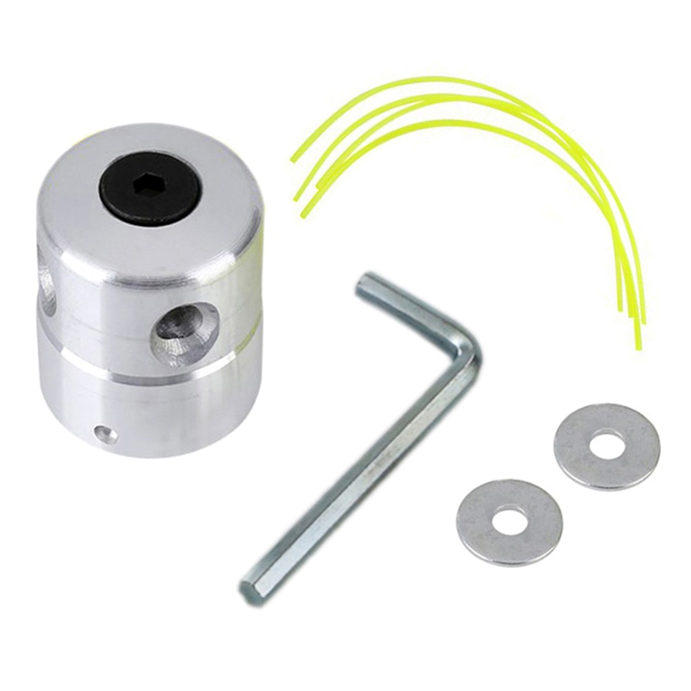 Trimmer Replacement Universal Aluminum Grass Head With 4 Lines Brush Cutter Lawn Mower Accessory Cutting Line