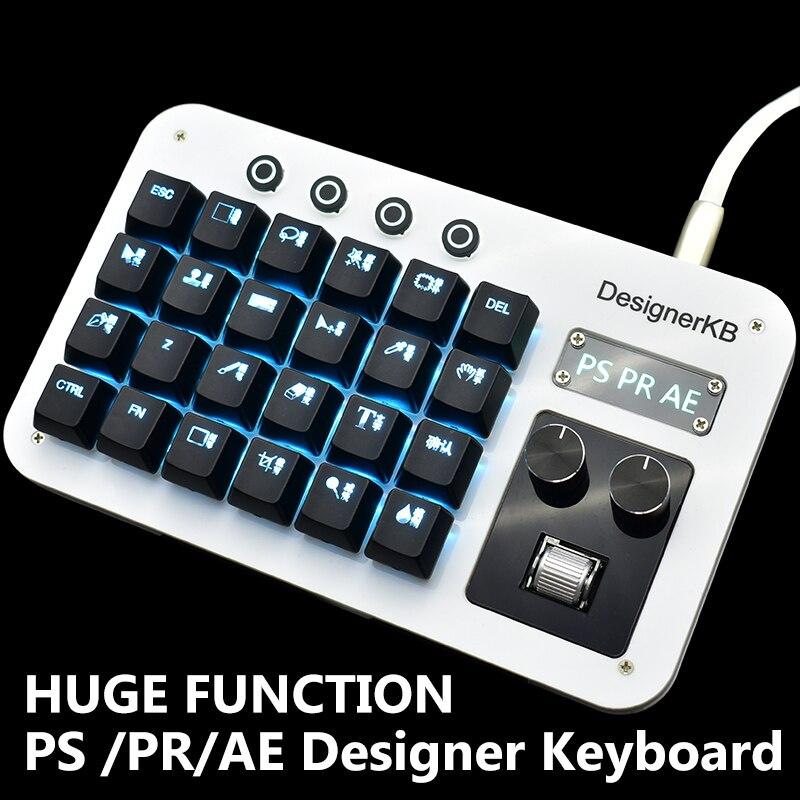 Teclado de programación Macro Photoshop para teclado PS PR AE para diseño de oficina