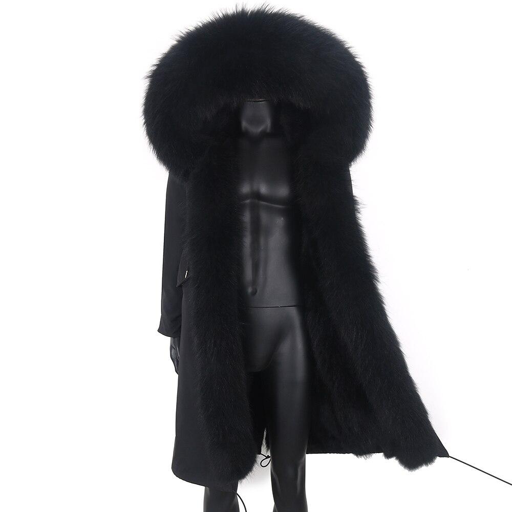 جديد لعام 2021 معطف شتوي رجالي مضاد للمياه 7XL جاكيت طويل دافئ من فرو الأرانب معاطف رجالي باركاس فرو ثعلب طبيعي ملابس خارجية