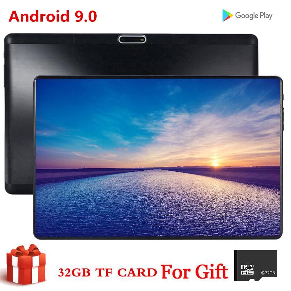 Tableta S119 de 10,1 pulgadas y 64GB de QMDZ, tableta MID PC Global con Bluetooth, Wifi, Phablet Android 9,0 MTK Core, tarjeta Dual SIM, tableta 2.5D, banda CE 32GB