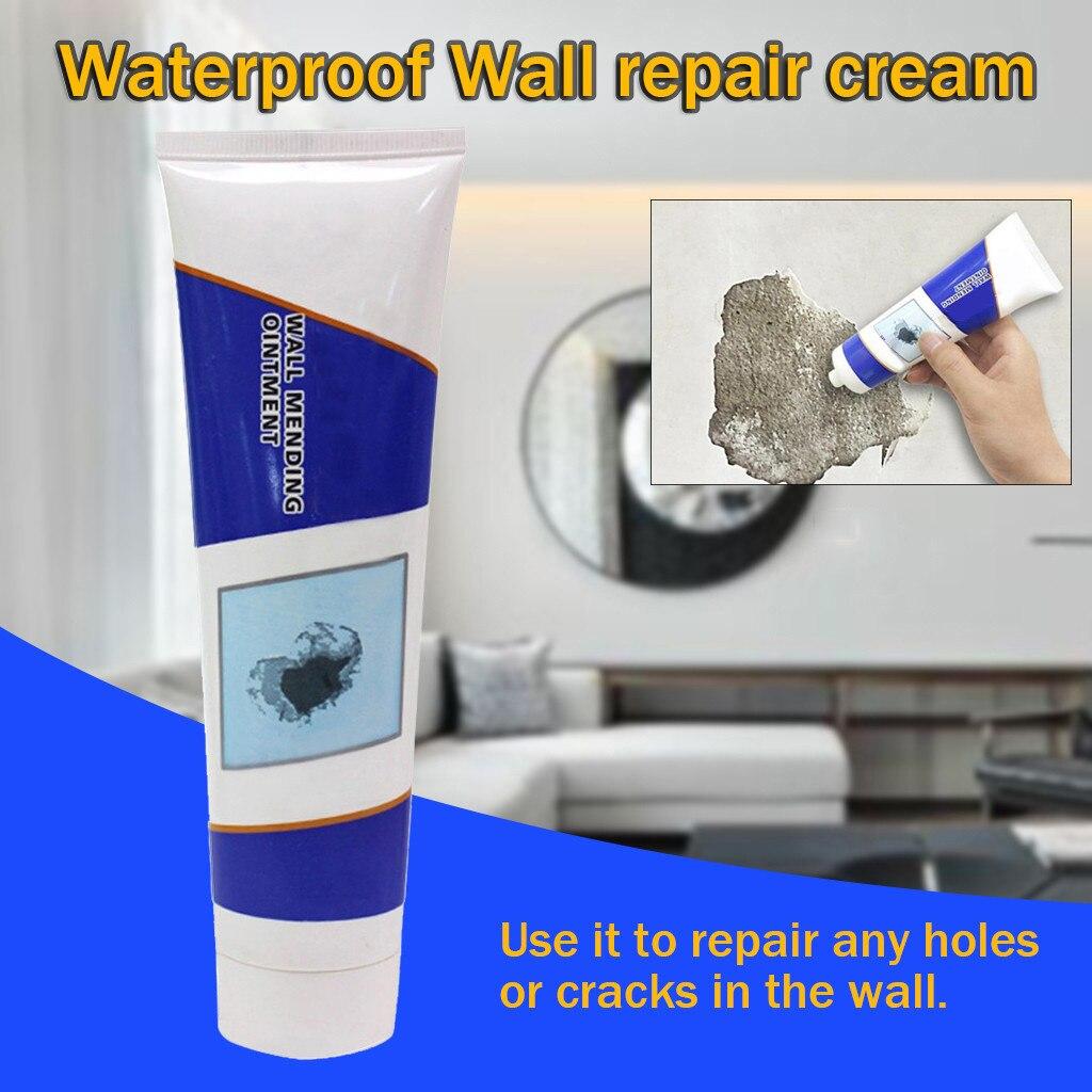 Pintura de látex blanco mágico crema de reparación de pared agujero del hogar desaparece a prueba de agua pared grieta agujero reparación crema herramienta de reparación de pared #15