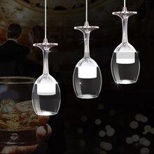 SOLLED LED Moderne Minimalistischen Kreative Wein Glas Anhänger Lampe Leuchte Beleuchtung Kronleuchter 1PCS