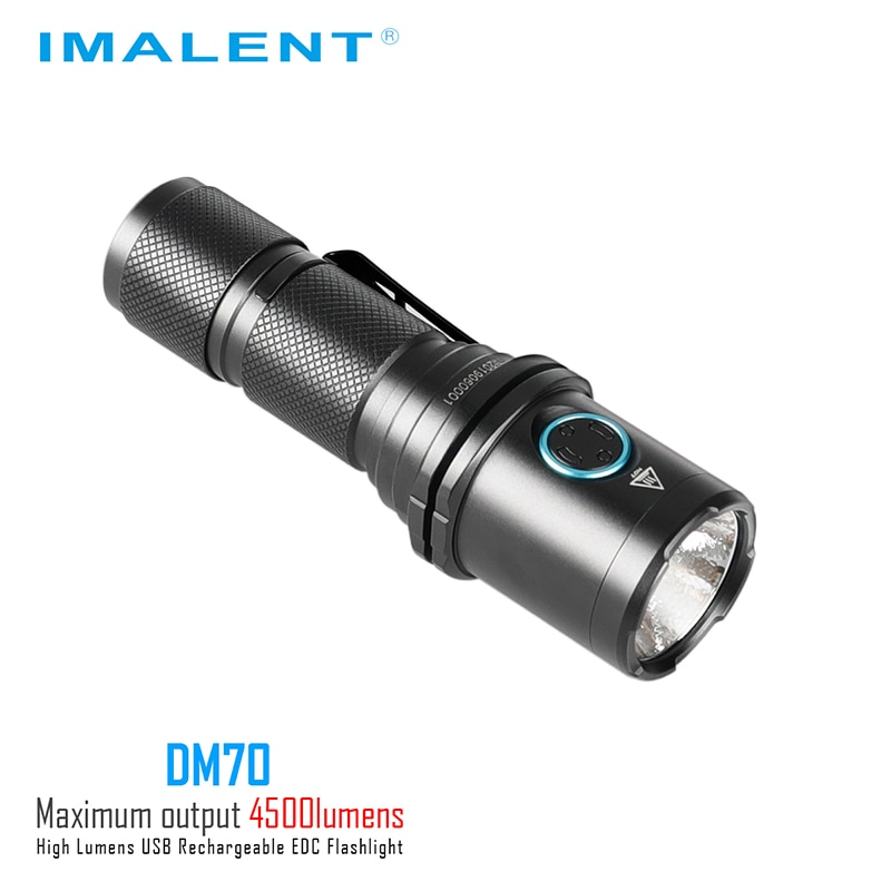 IMALENT DM70 Flashlight Rechargeable Powerful 4500 Lumens Protable Led Flashlight  Cree XHP70.2 with 21700 Battery Camping enlarge