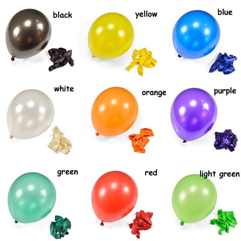 Balões verdes 50 pçs/lote 10 polegada 1.5g acessórios de Pérola Balões De Látex balões de hélio gás balon balões figuras do bebê minnie