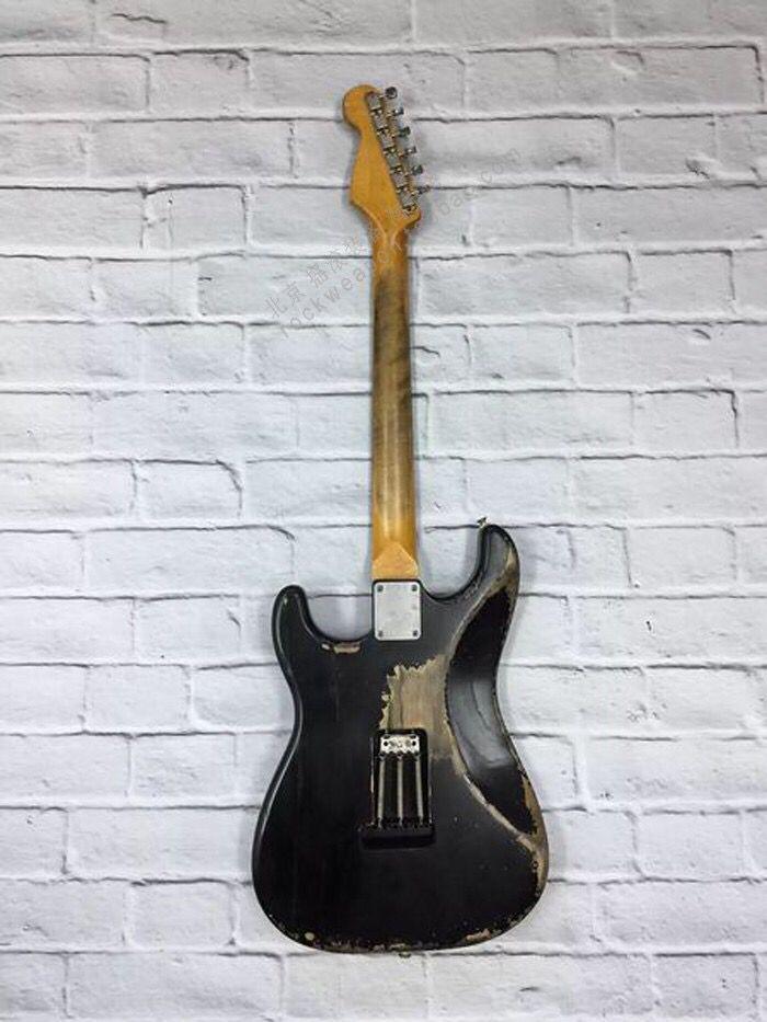 High quality Electric Guitar,relics rosewood fingerboard gitaar.relics by hands.black color guitarra. enlarge