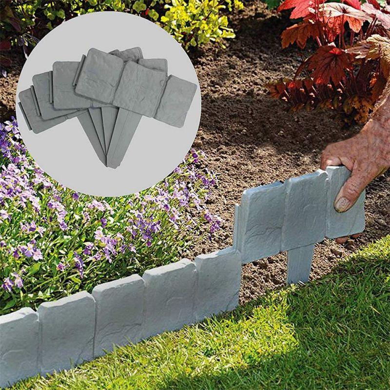 Садовый Забор, окантовка из мощеного камня, эффект DIY, пластиковая окантовка для лужайки, декоративные Садовые принадлежности