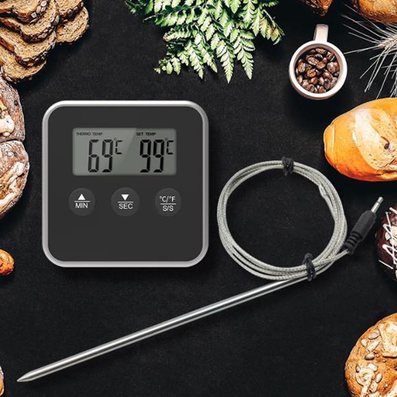 Цифровой таймер для приготовления пищи, Кухонный Термометр для барбекю, духовки, гриля, мяса, инструмент для барбекю, гриля, кухонные аксесс...