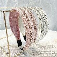 Free shipping women summer weave headband girl's Chain headwear hair accessories
