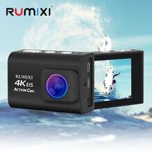 Ultra HD 4K spor eylem kamera ile EIS fonksiyonu uzaktan kumanda 30M su geçirmez sualtı Video kayıt kamera aksesuarları